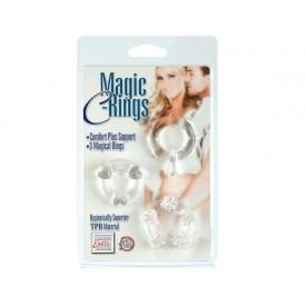 3 прозрачных эрекционных колечка MAGIC C-RINGS
