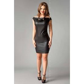 Облегающее платье Joline из материала под кожу