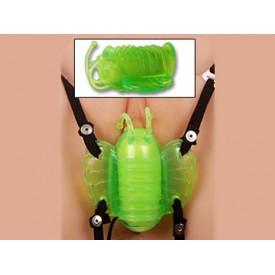 Зеленая бабочка для клитора из силикона