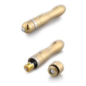 Классический золотистый вибратор Notabu - 12 см.